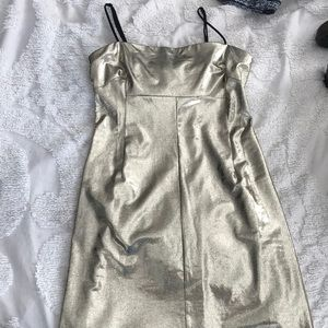 gold urban outfitters dress